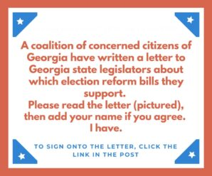 Sign the Letter to Support Election Integrity Bills in Georgia